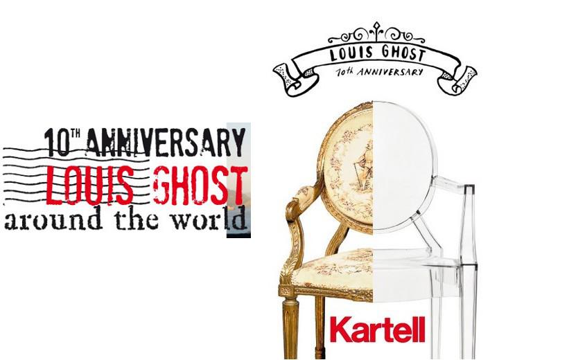 10º aniversario de la silla Louis Ghost de Kartell