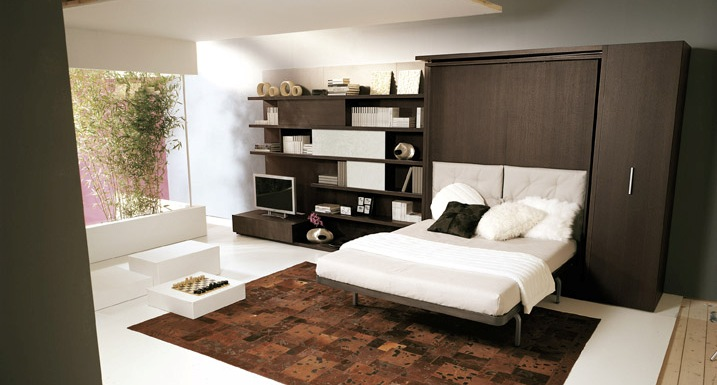 Camas abatibles de dise o espaciobetty madrid - Muebles cama plegables para salon ...