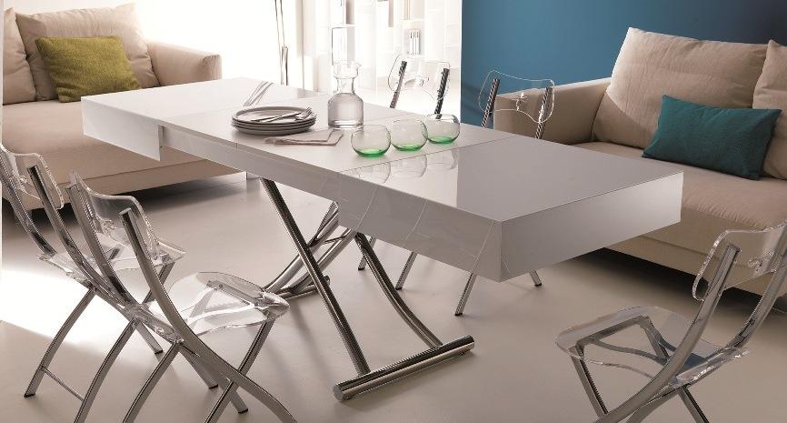 Mesas elevables y transformables modernas y de dise o for Mesas plegables salon diseno