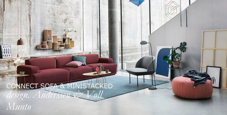 Muuto Connect sofa & ministacked