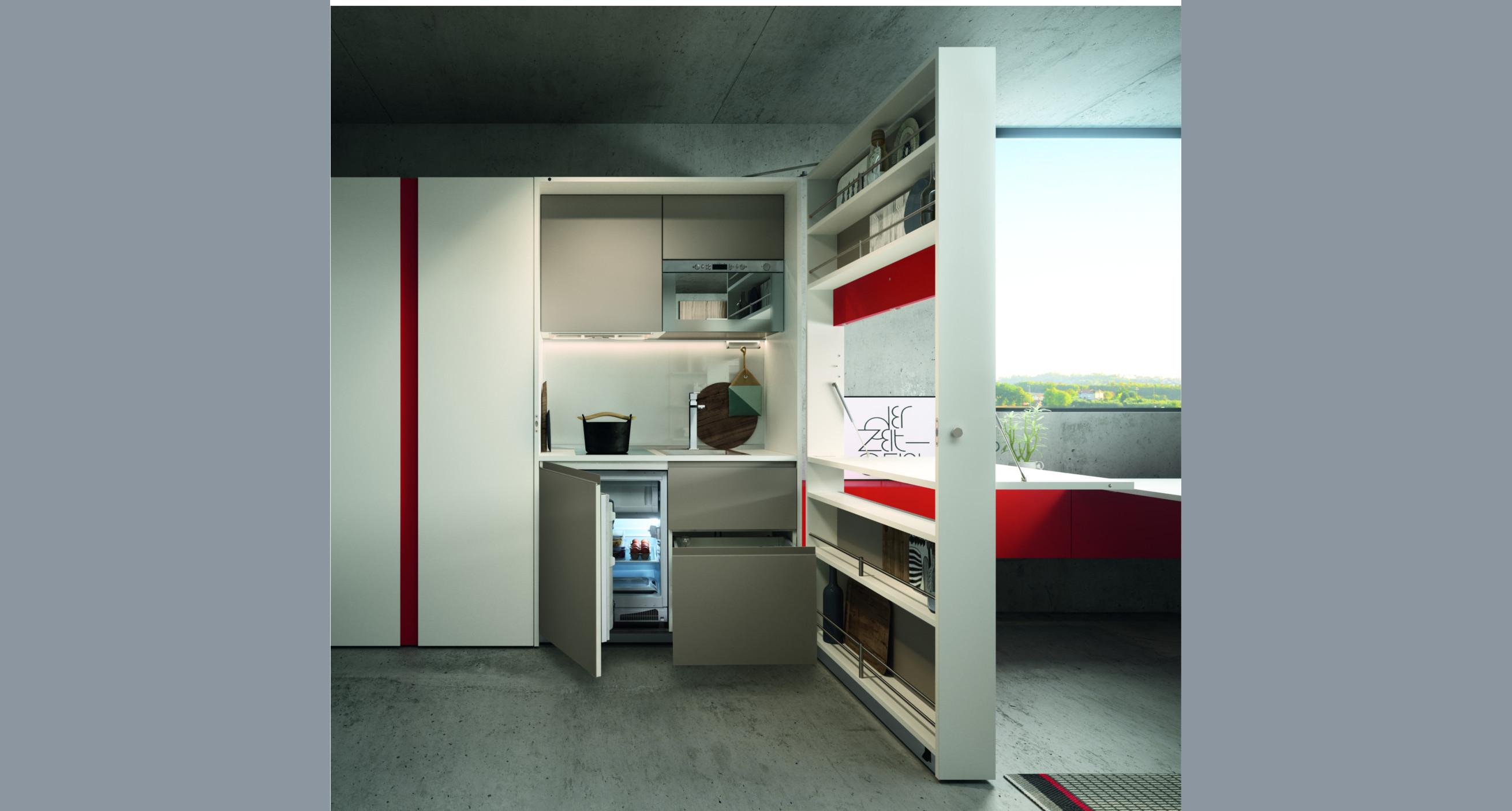 Clei cocinas abatibles de dise o espaciobetty madrid - Cocinas de diseno en madrid ...