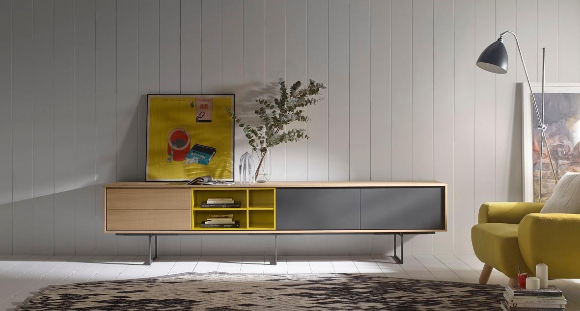 Colecci n aura de muebles treku espaciobetty madrid - Muebles bajos para salon ...